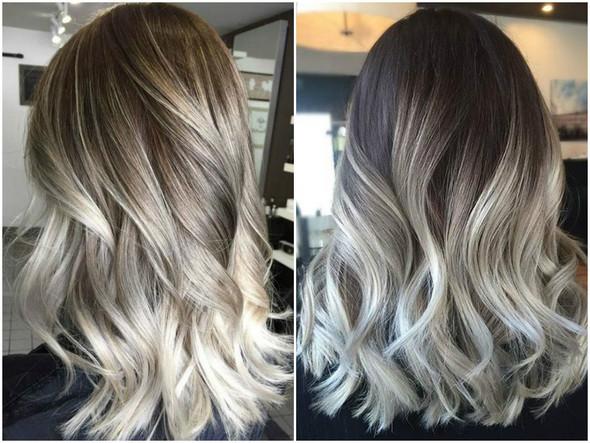 Blondes Balayage Bei Dunkelbrauner Naturhaarfarbe Haare Beauty