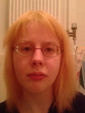 Blonde haare kaputt braun farben