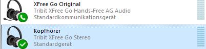 bluetooth headset wird 2mal angezeigt, welches ist was?