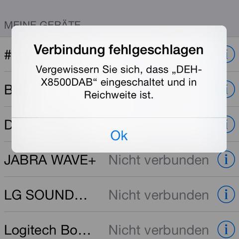 Bluetooth verbindung mit Autoradio (Handy, Auto, Sound)