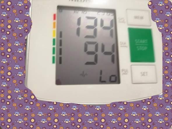 Blutdruckmessgerät was bedeuten die 2 untersten Zeichen?