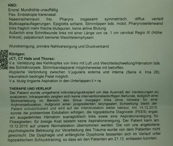 Arztbrief - (HNO, blutgefaesse)