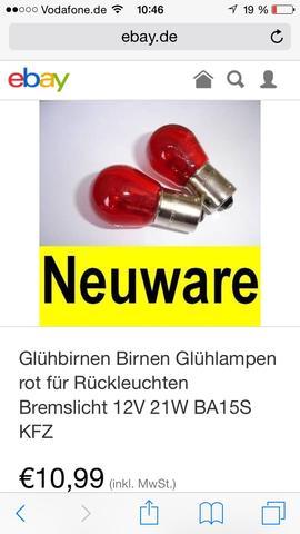 Birnen - (Rückleuchten, BMW 318i)