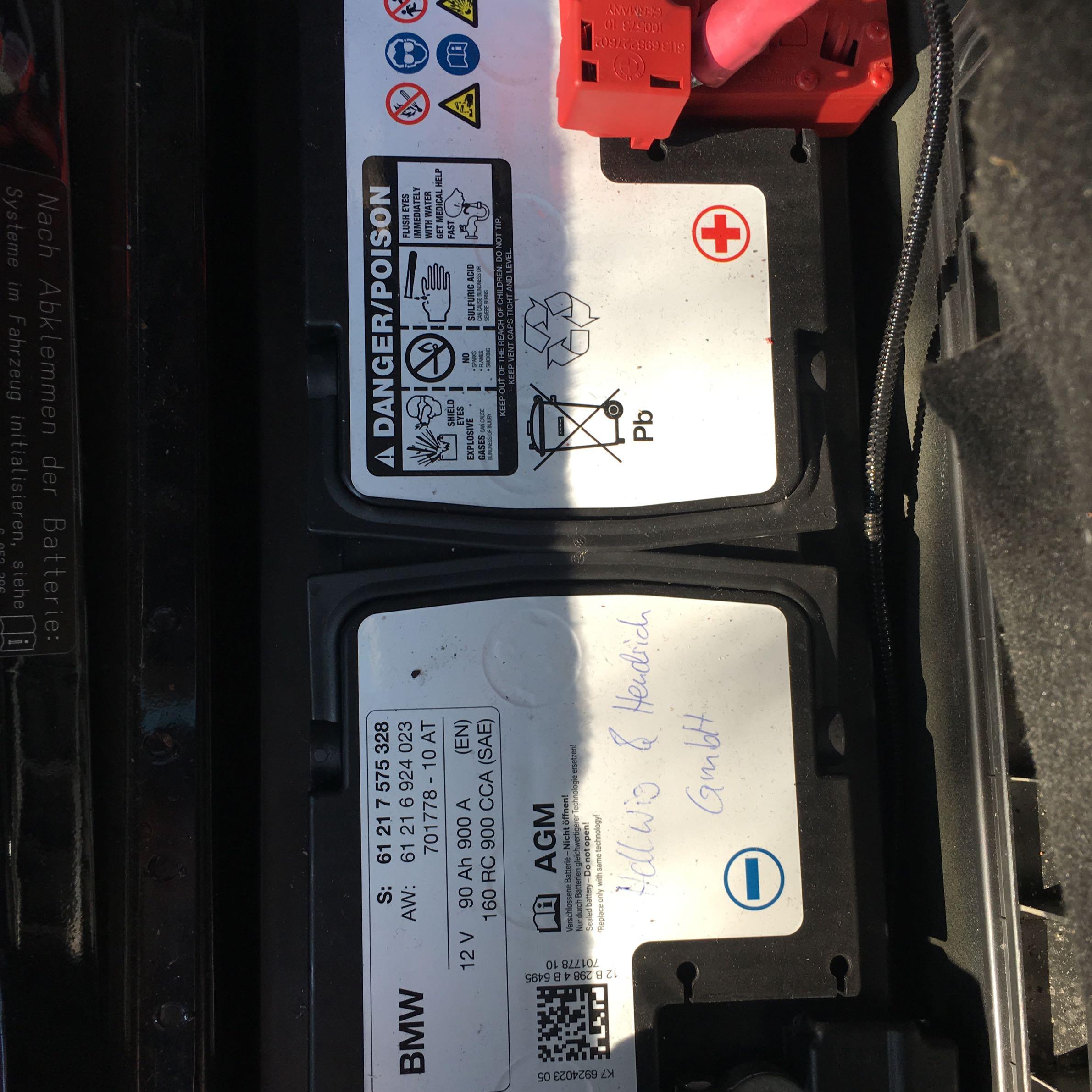 BMW E61 Autobatterie Wechseln Technik Auto Batterie