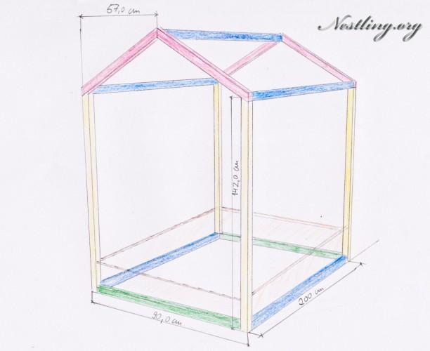 bodenbett selber bauen aber wie am besten die vierkanth lzer sicher verbinden handwerk holz. Black Bedroom Furniture Sets. Home Design Ideas
