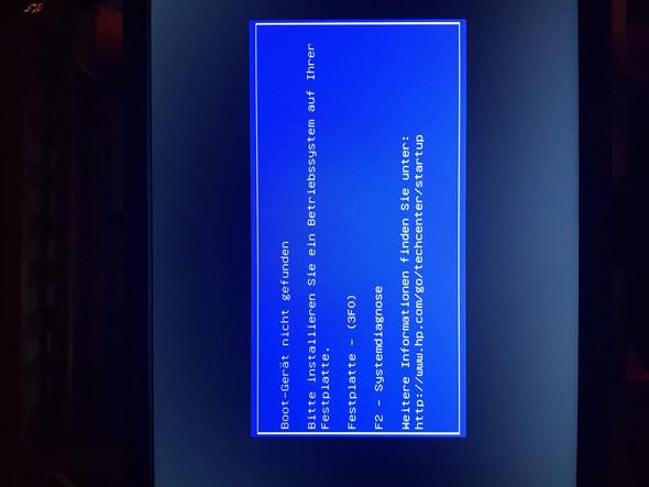 - (PC Elektronik, Bootgerät Fehlermeldung)