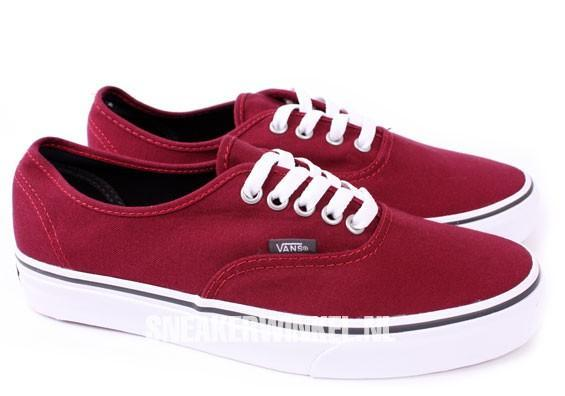 vans damen bordeaux