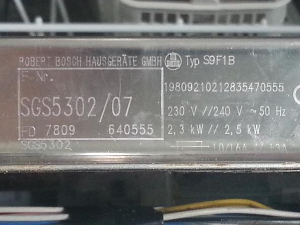Bosch Geschirrspülmaschine SGS530207 schließt nicht