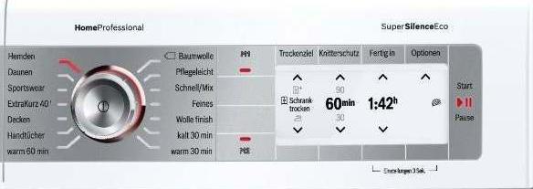 Bosch Trockner Wty887w3 Pflegeprogramm P07 Pflege