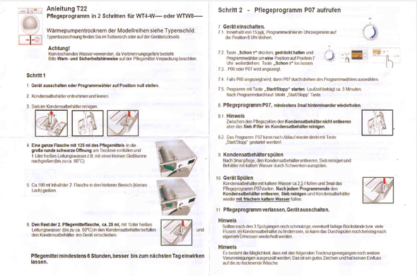 Anleitung - (Pflege, Waschmaschine, Wäsche)