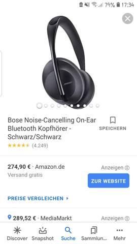 Bose Noice Cancelling auch für Sport geeignet?