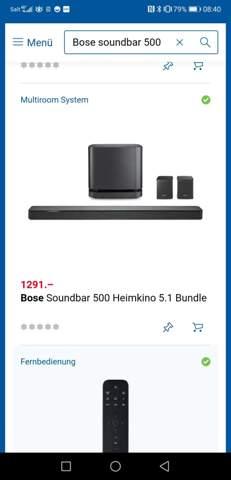 Bose soundbar 500 mit woofer und Boxen Bundle 5.1 empfehlenswert?