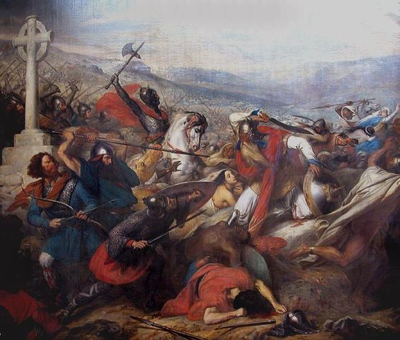 Die Schlacht von Tours und Poitiers - (Geschichte, Hausaufgaben, Bildbeschreibung)