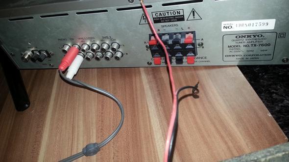 Boxen Rot und Schwarzes kabel wo rein stecken? (Anlage, Anschluss)