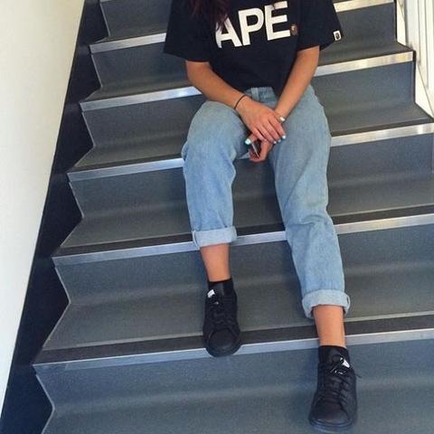 boyfriend high waist hose fashion jeans. Black Bedroom Furniture Sets. Home Design Ideas