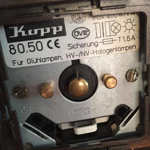 Hier der dimm Schalter.  - (Strom, Licht, LED)