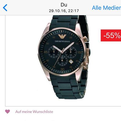 Die Uhr im Internet - (Vergrößern, Armani Uhr, Krone fehlt)