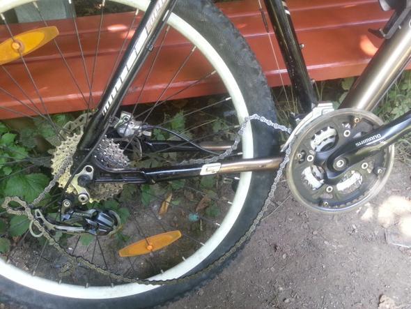 Hinterreifen - (Fahrrad, Reifen, Mountainbike)
