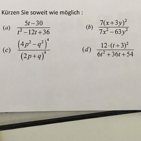 Brauche dringend Hilfe bei Mathe Aufgaben (Brüche kürzen, Potenzen ...