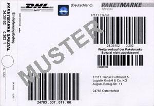 Paketmarke - (Versand, DHL)