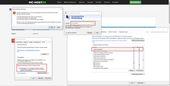 Die Meldung - (vServer, Remote, Remotedesktopverbindung)