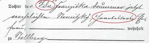 Heiratsurkunde meiner Ur-Ur-Großeltern - (Uebersetzung, Altdeutsche Schrift)