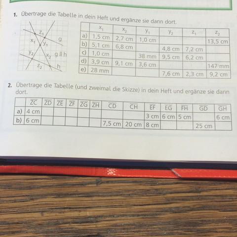 Da sind die zwei Aufgaben - (Schule, Mathe, Mathematik)