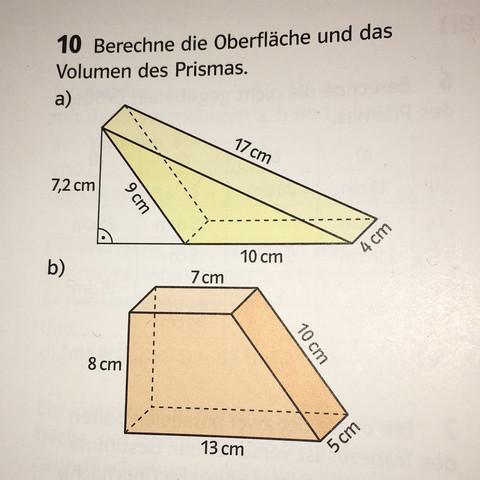 brauche hilfe bei oberfl che dreiecks prisma klasse 8 schule mathe mathematik. Black Bedroom Furniture Sets. Home Design Ideas
