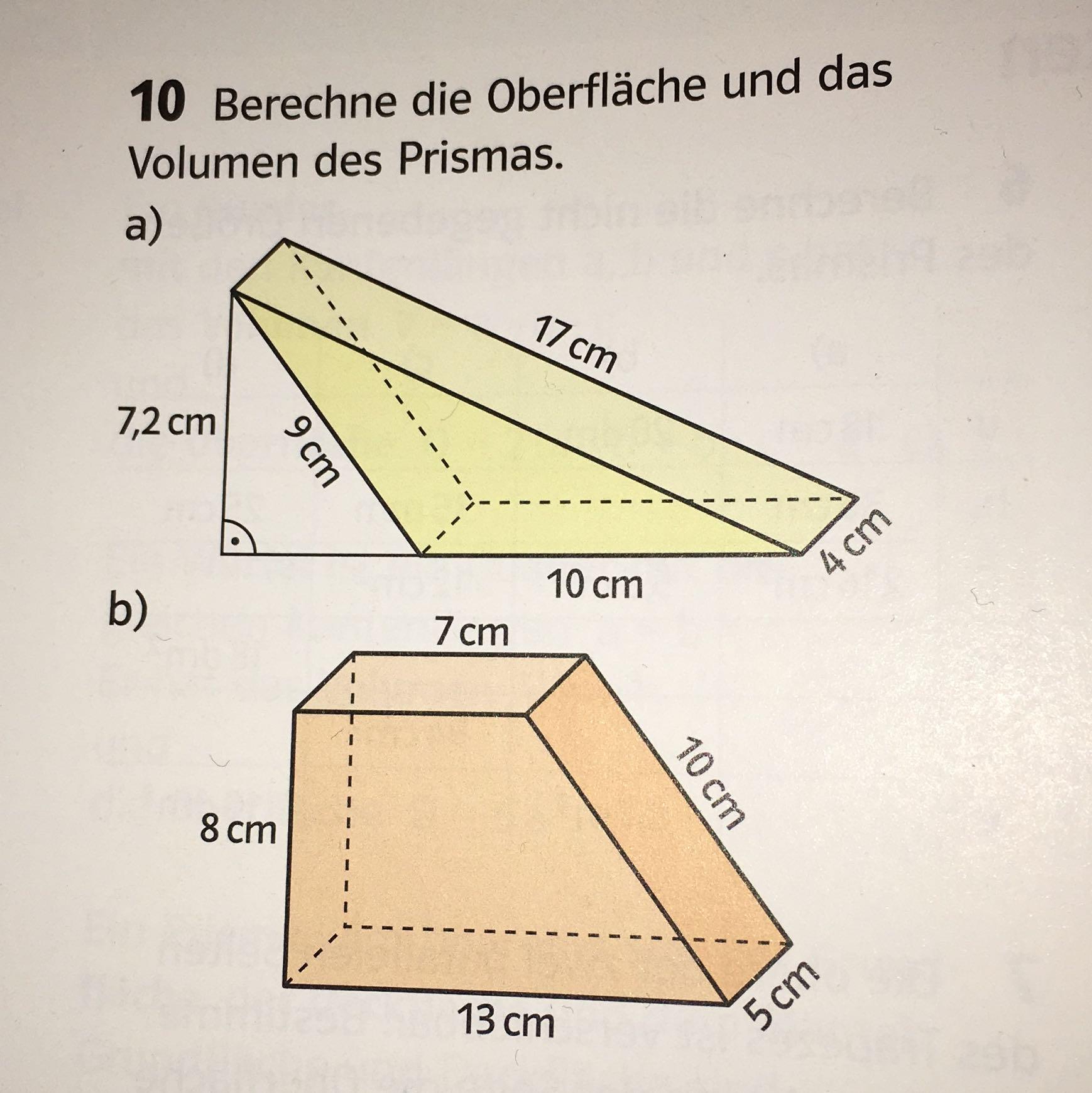 Groß Oberfläche Und Volumen Eines Prismas Arbeitsblatt Galerie ...