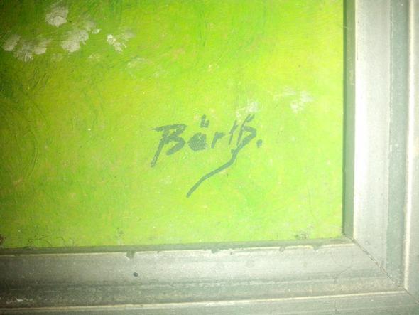unterschrift des malers - (Kunst, Malerei, Gemälde)