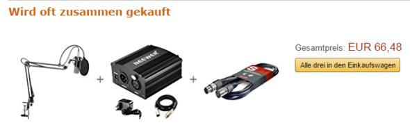 Komponenten die man sich kaufen kann. - (Mikrofon, Kabel)