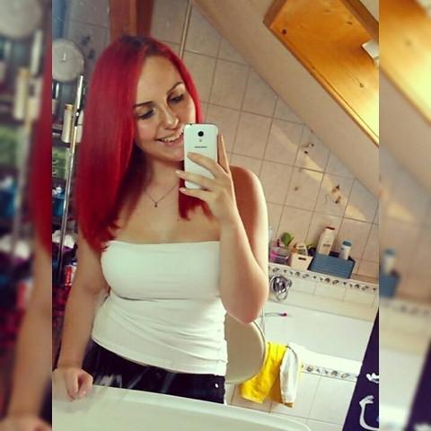 hier mit roten haaren - (Haare, Farbe, färben)