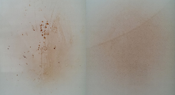 Unterseite und Oberseite - Braune Brandflecken am Ofen - (Küche, Metall, putzen)