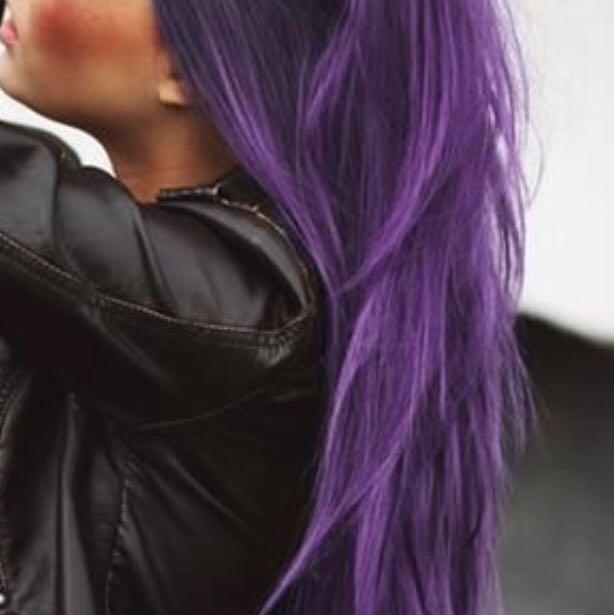 Braune Haare Lila färben mit Directions? (Tönung)