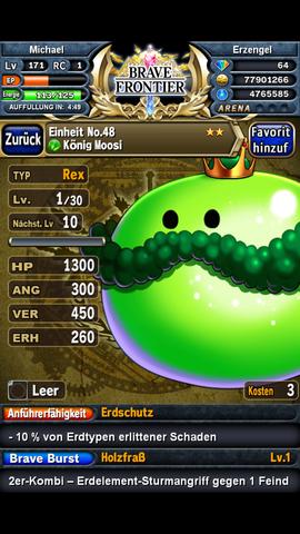 König Moss von Typ Rex - (Games, android-spiele, Brave frontier)