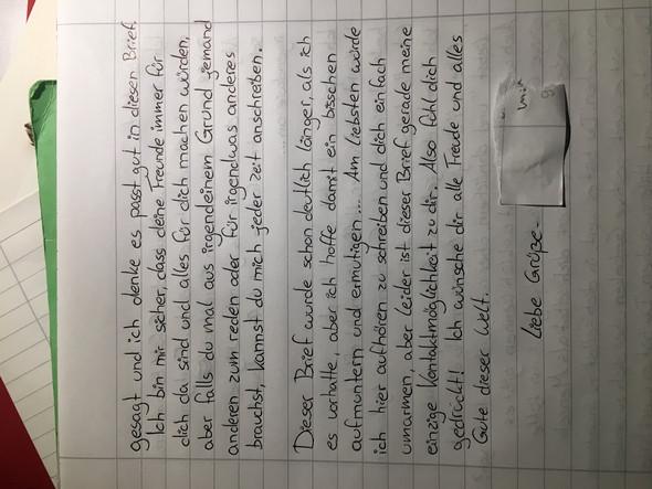 Brief An Freundin Mit Magersucht In Klinik Schreiben Brief
