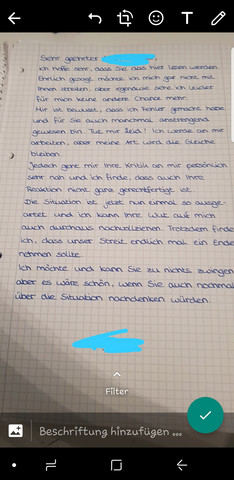 Brief an Lehrer so ok?