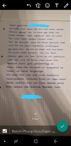 brief an die lehrerin schreiben