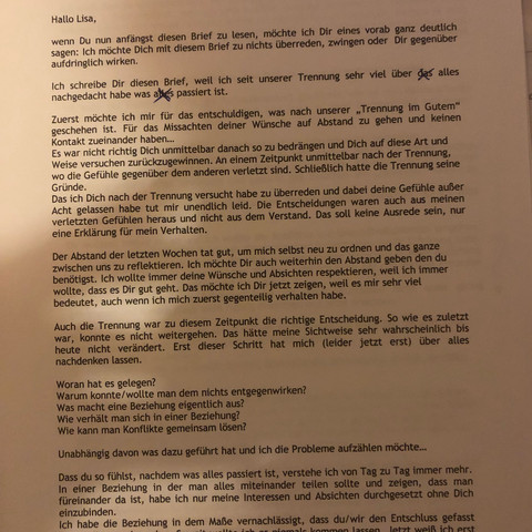 Brief Ex Freundin Zurück Sinnvoll Freundschaft Liebe Und