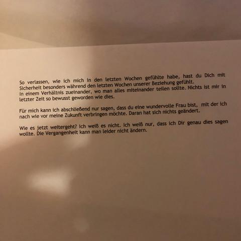 Freund abschiedsbrief an ex Christina Luft