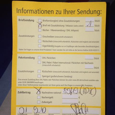 Brief Mit Zusatzleistung Adac Hilfe Paket Deutsche Post