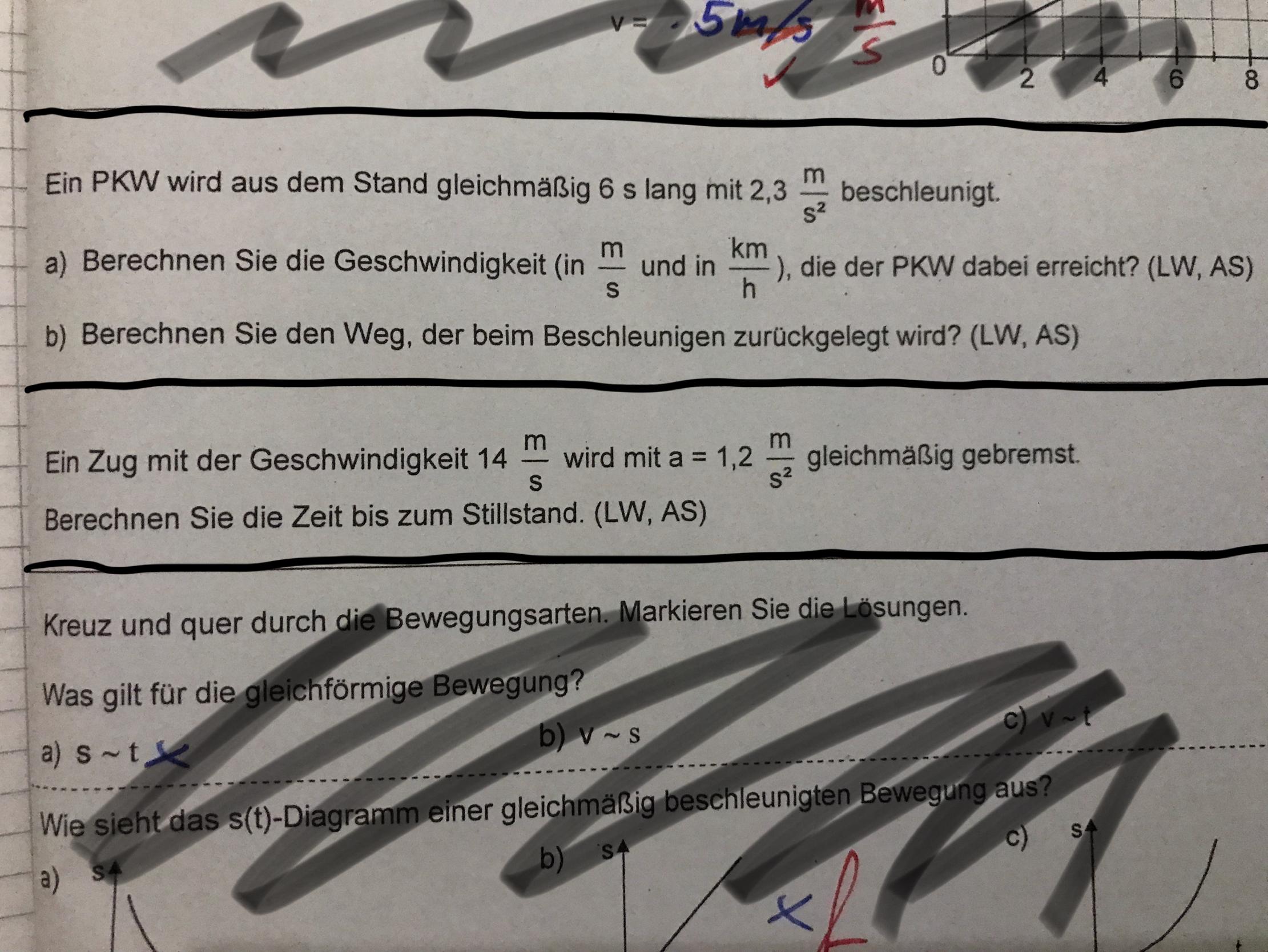 Bruach Hilfe zur Gleichförmigen Bewegung (Physik)? (Schule ...