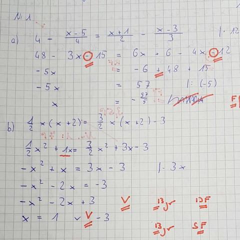 Bei Nummer eins, zweite Zeile - (Schule, Mathe, Studium)