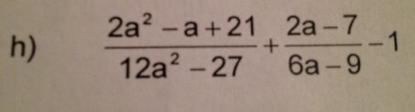 zu  aufgabe h) - (Mathe, rechnen, Bruch)