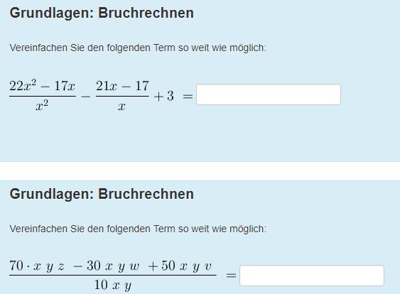 Terme vereinfachen - (Mathe, Bruchrechnung)