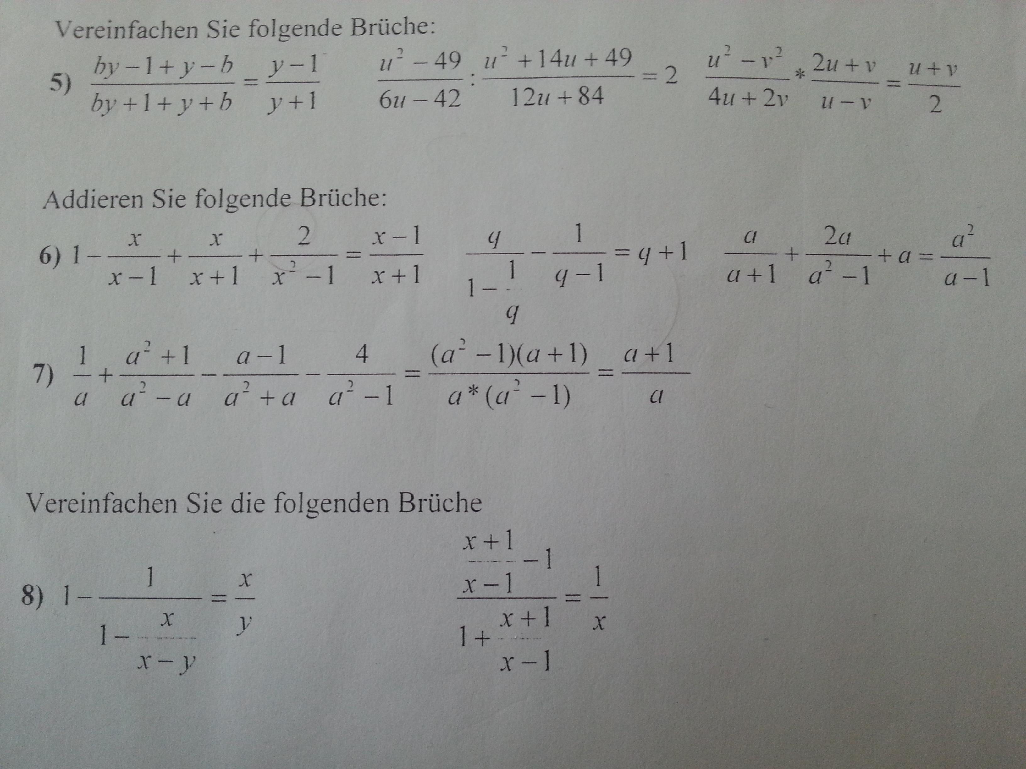 brüche vereinfachen (mathe, aufgabe)