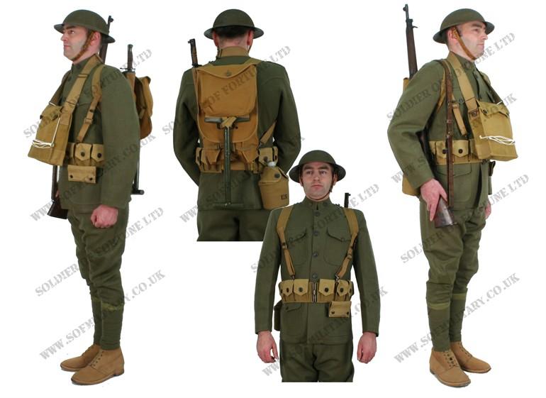 """Brust-Rucksack"" der US WW1 Infantry Uniform (Erster ..."
