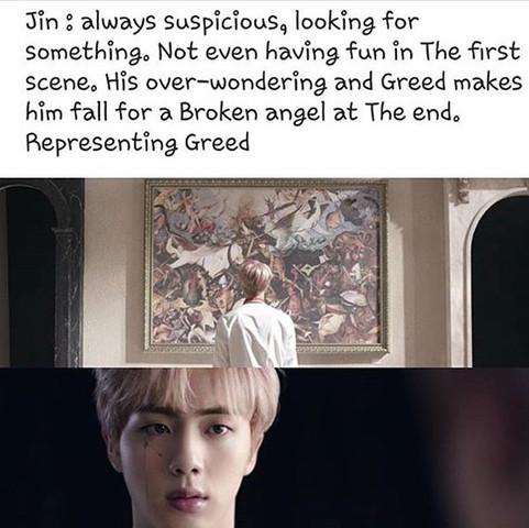 BTS jin  - (Computer, BTS, Wings)