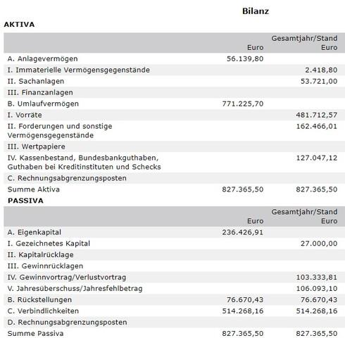 Bilanzen der besagten Firma - (Beruf und Büro, Wirtschaft und Finanzen, Firma)