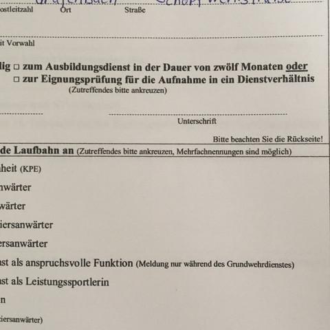 Ich weiß nicht welches ich ankreuzen soll - (Österreich, Bundesheer, Grundwehrdienst)